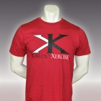 Mens tee shirt 100% cotton (Red)