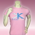 Ladies tee shirt 100% cotton (Pink)