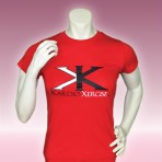 Ladies tee shirt 100% cotton (Red)