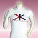 Ladies tee shirt 100% cotton (White)