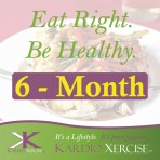 6 month Eat Right. Be Healthy. meal planner by KARDIO-XERCISE™